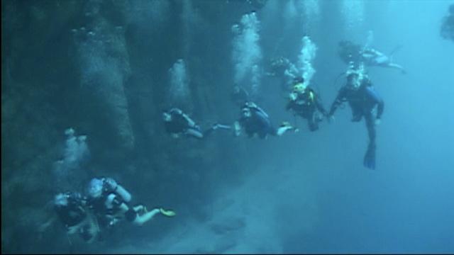Inside Great Blue Hole